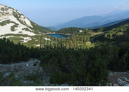 Amazing panorama with clear sky of  Sinanitsa lake,  Pirin Mountain, Bulgaria