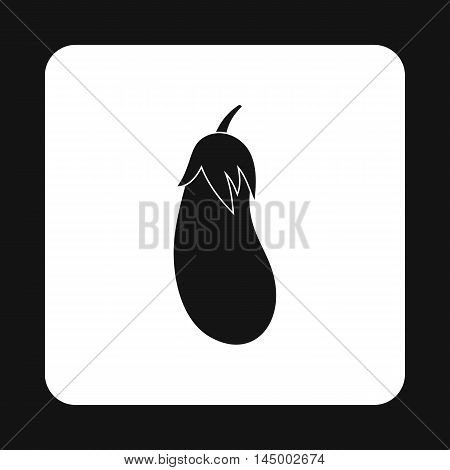 Eggplant icon in simple style isolated on white background. Vegetables symbol