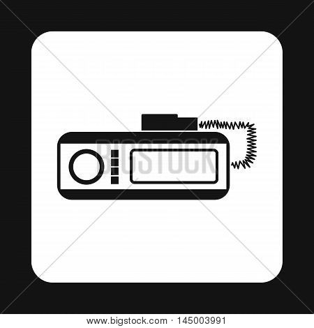 Radio taxi icon in simple style isolated on white background. Device symbol