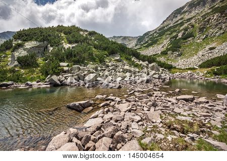Amazing Landscape of Upper Muratovo lake, Pirin Mountain, Bulgaria
