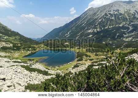 Amazing Panorama of Muratovo lake, Pirin Mountain, Bulgaria