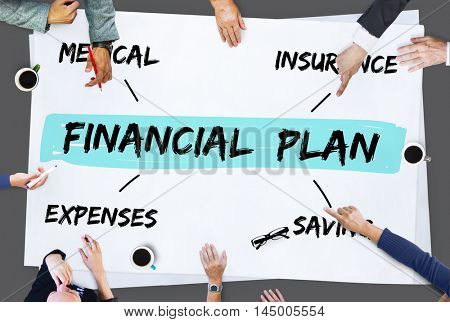 Financial Plan Retirement Investment Diagram Concept