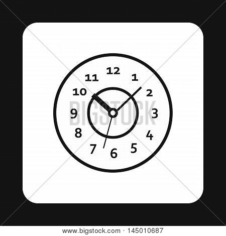 Round watch icon in simple style isolated on white background. Time symbol