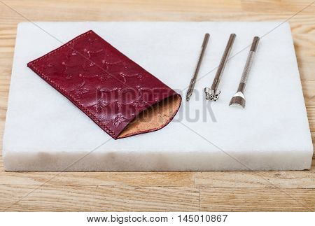 Leather Pouch For Glasses And Stamping Tools