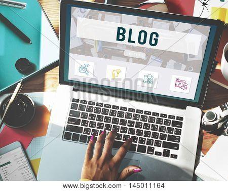 Blog Online Communication Connection Technology Concept
