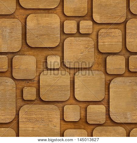 Seamless geometric wooden blocks - seamless background