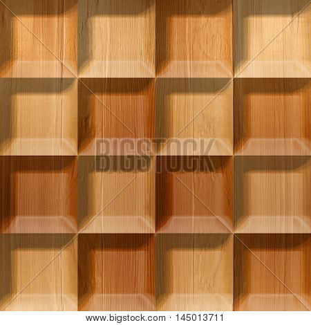 Abstract tiles stacked for seamless background wooden surface