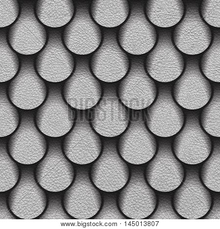 Abstract drops stacked for seamless background surface white leather