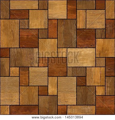 Wooden rectangular parquet stacked for seamless background. rosewood veneer