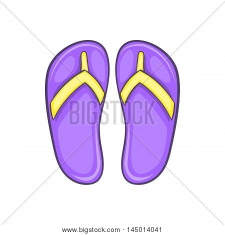 Flip flop sandals icon in cartoon style on a white background