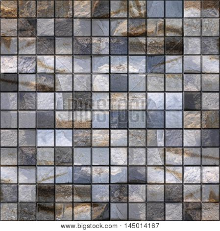 Stone tiles stacked for seamless background quartz surface