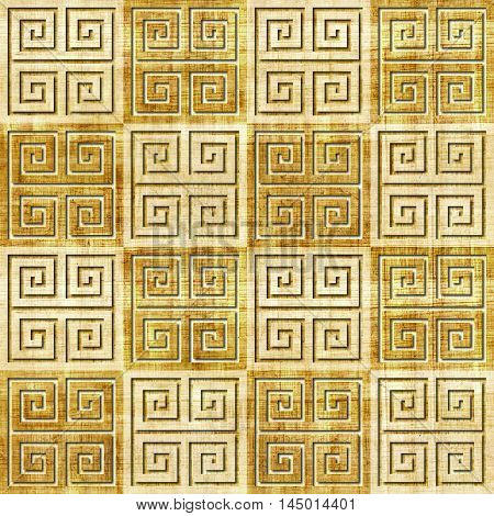 Abstract decorative tiles - seamless pattern - papyrus texture