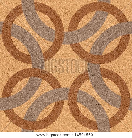 Decorative blended circles - seamless background - Interior Design pattern - Abstract decorative panels - texture cork