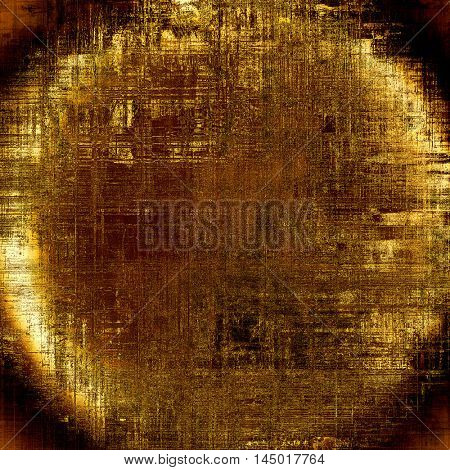 Spherical retro design on grunge background or aged faded texture. With different color patterns: gray; red (orange); yellow (beige); brown; black