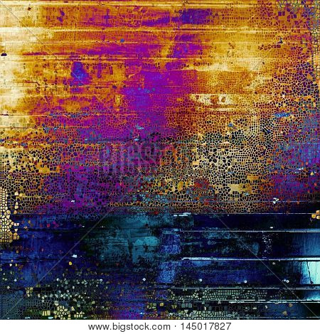 Grunge background or vintage texture in traditional retro style. With different color patterns: blue; red (orange); purple (violet); yellow (beige); pink; black