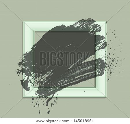 smudge and smear a brush in a frame vector background illustration clip-art