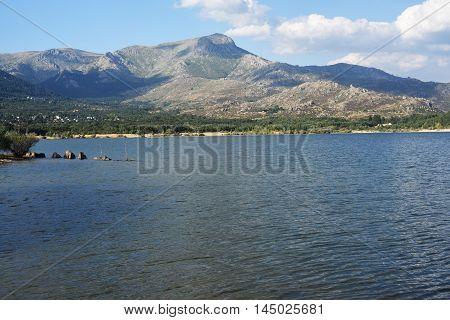 Navacerrada Reservoir . Madrid. Spain. Located in the Sierra de Guadarrama