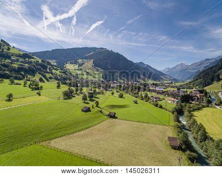 Rauris In Austria, Mountain Village In The Alps, Salzburg