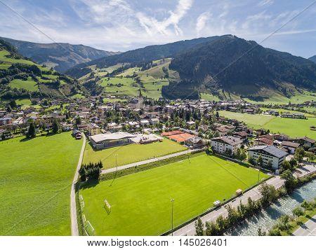 Rauris in Austria mountain village in the Alps Salzburg