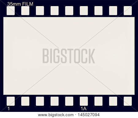 illustration of vintage photographic 35 mm film sheet vintage