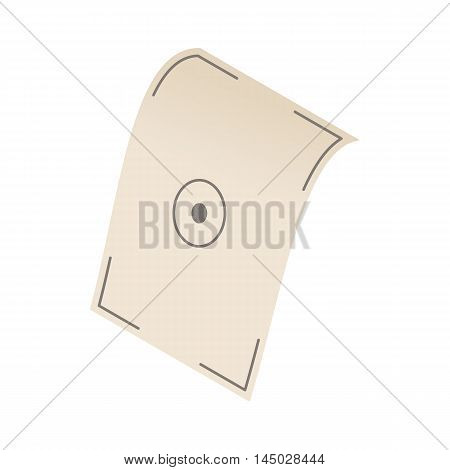 Test printed sheet icon in cartoon style isolated on white background. Print symbol