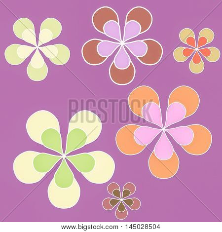 Floral Sixties Background Vintage
