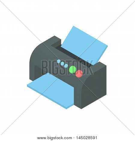 Printer icon in cartoon style isolated on white background. Print symbol