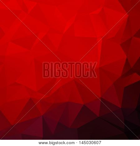 Red poly abstract background . vector background design
