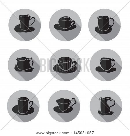 Coffee Cups Icons Set