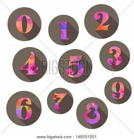 Numbers Icons Set