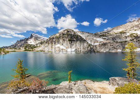 Beautiful Alpine lakes wilderness area  in Washington, USA