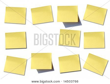 Some different post it to write it on some memo