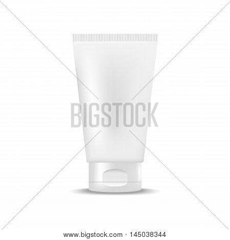 White blank tube of cream, gel. Mock up, cosmetic package