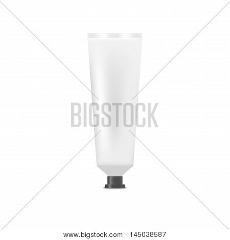 White blank tube of cream, toothpaste. Mock up, cosmetic package