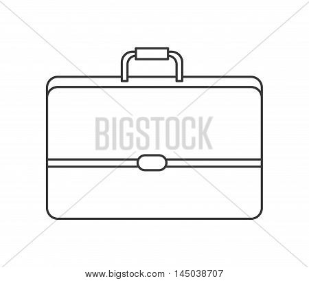 suitcase travel bag business trip icon. Flat and isolated design. Vector illustration