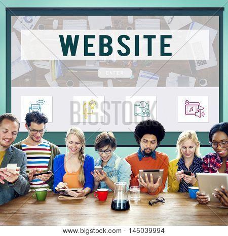 Website Online Communication Technology Concept