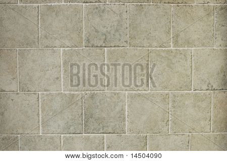 Grey old fashioned baked clay paving tiles, great background.