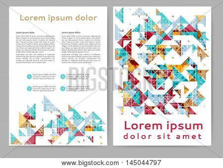 Abstract color brochure template with geometric elements