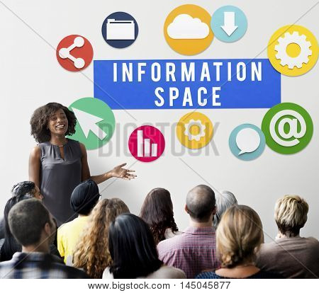 Information Space Technology Network Connect Concept