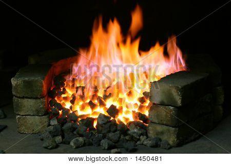 Burning Black Coal