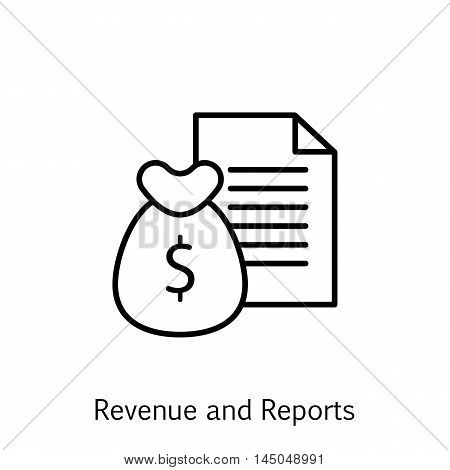 Vector Illustration Of Project Management Icon On Money, Revenue And Reports In Trendy Flat Style. P