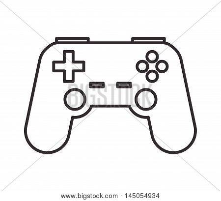 videogame control buttons hobby silhouette icon. Flat and isolated design. Vector illustration