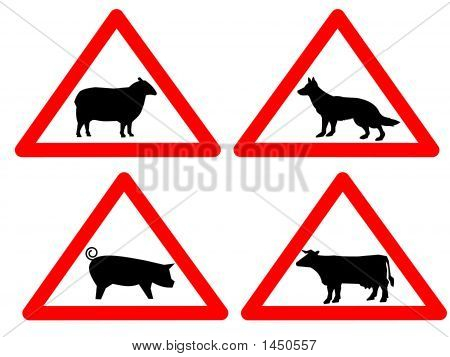 Warning Livestock Signs