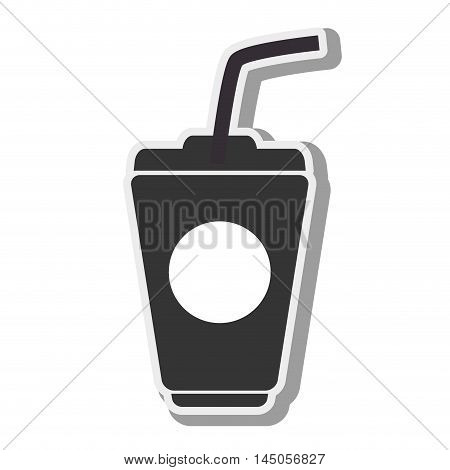 takeaway delivery drink beverage soda cup straw vector illustration