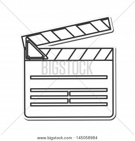 clapboard cinema movie film entertainment icon. Flat and isolated design. Vector illustration