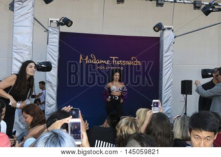 LOS ANGELES - AUG 30: Selena Fans, Selena wax figure as 'Madame Tussauds Hollywood unveils a wax figure of Selena Quintanilla' at Madame Tussauds on August 30, 2016 in Los Angeles, CA