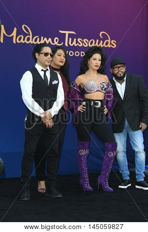 LOS ANGELES - AUG 30: Chris Perez, Suzette Quintanilla, Selena Wax Figure, A.B. Quintanilla as 'Madame Tussauds unveils a wax figure of Selena Quintanilla' on August 30, 2016 in Los Angeles, CA