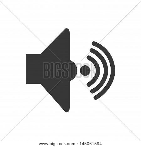 sound loud volume audio speaker music wave symbol vector illustration