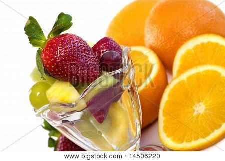 Colorful Assortment Of Fresh Fruit In Parfait