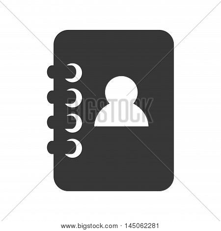 agend phone contacts directory book notebook phonebook vector illustration